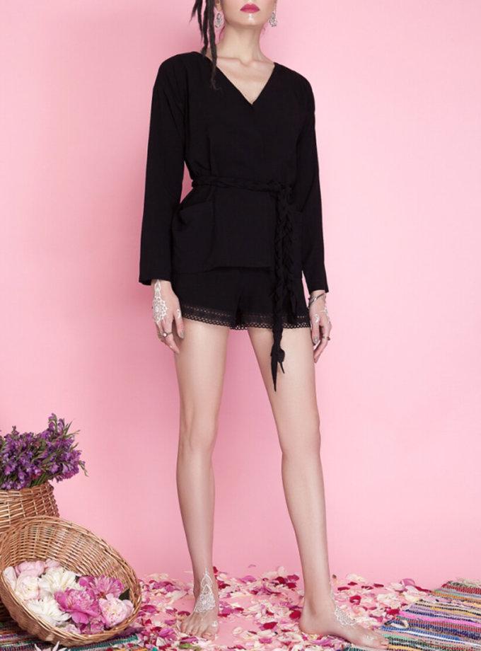 Короткие шорты с кружевом AY_1674, фото 1 - в интернет магазине KAPSULA