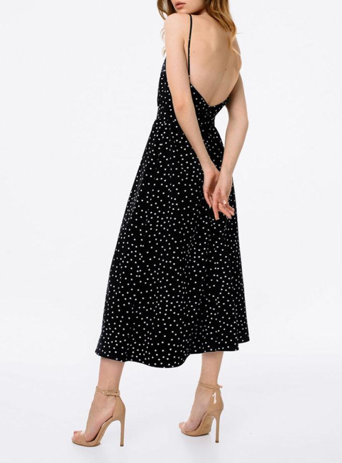 Платье с разрезом и открытой спиной BLACK MGN_1716CH, фото 1 - в интернет магазине KAPSULA