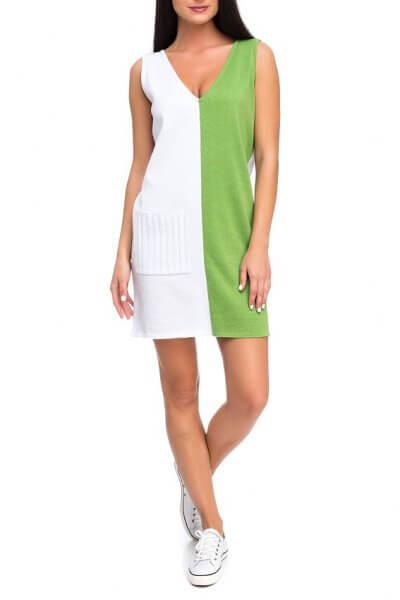 Легкое вязаное платье из хлопка HMCRG_ctndr_1_outlet, фото 4 - в интеренет магазине KAPSULA