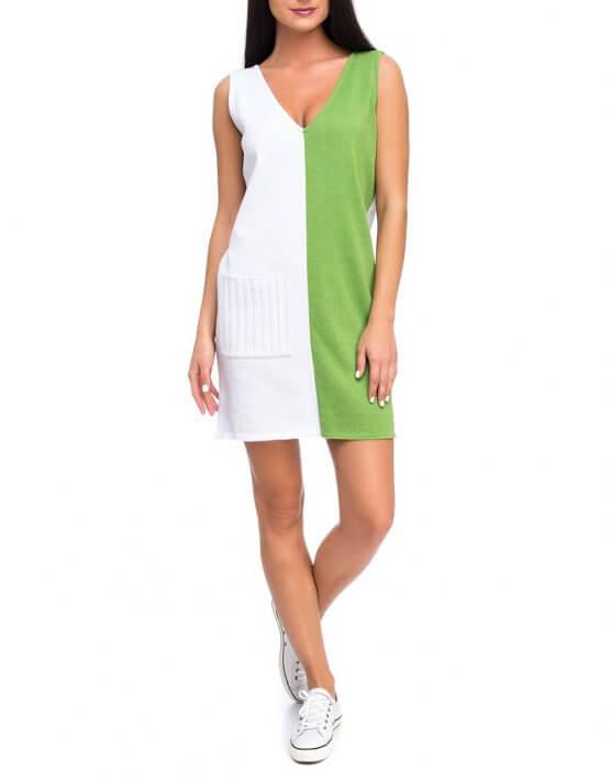 Легкое вязаное платье из хлопка HMCRG_ctndr_1_outlet, фото 3 - в интеренет магазине KAPSULA
