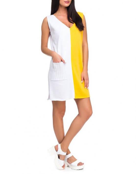 Легкое вязаное платье из хлопка HMCRG_ctndr_3_outlet, фото 3 - в интеренет магазине KAPSULA