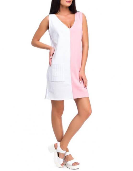Легкое вязаное платье из хлопка HMCRG_ctndr_4_outlet, фото 3 - в интеренет магазине KAPSULA