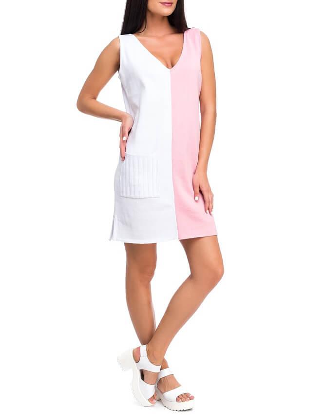 Легкое вязаное платье из хлопка HMCRG_ctndr_4_outlet, фото 1 - в интернет магазине KAPSULA