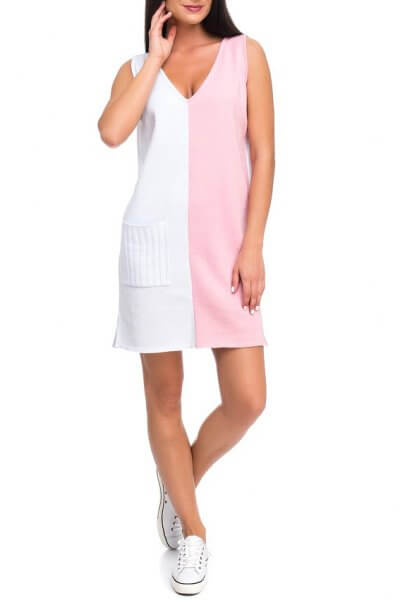 Легкое вязаное платье из хлопка HMCRG_ctndr_4_outlet, фото 4 - в интеренет магазине KAPSULA