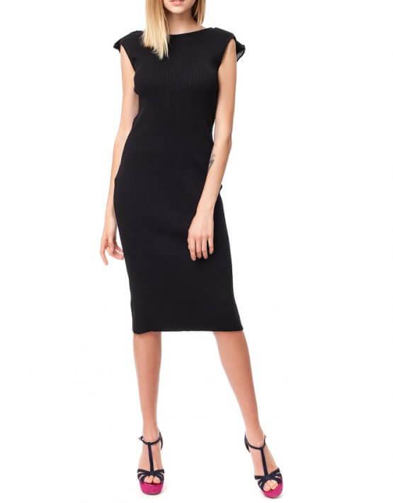 Хлопковое платье с открытой спиной HMCRG_ctndr_5_outlet, фото 3 - в интеренет магазине KAPSULA