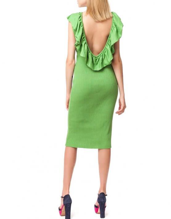 Хлопковое платье с открытой спиной HMCRG_ctndr_6_outlet, фото 3 - в интеренет магазине KAPSULA