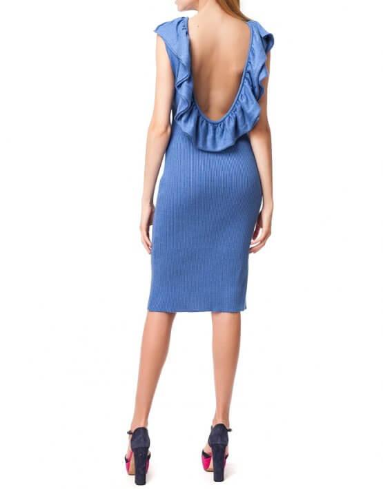 Хлопковое платье с открытой спиной HMCRG_ctndr_7_outlet, фото 3 - в интеренет магазине KAPSULA