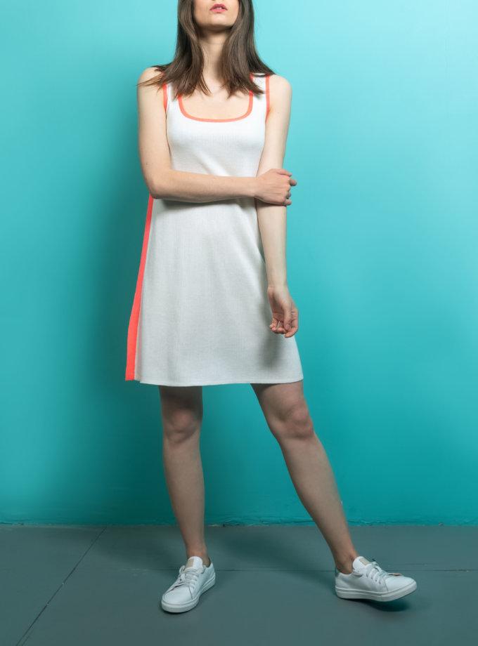 Трикотажное платье  с боковым кантом KBL_09-PTVMK, фото 1 - в интернет магазине KAPSULA
