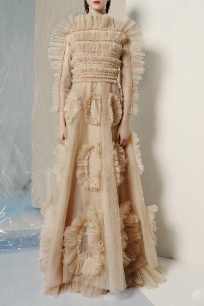 Платье макси с рюшами MF-FW1920-16_outlet, фото 4 - в интеренет магазине KAPSULA