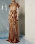 Трикотажное платье миди MIN_fw1718-07-outlet, фото 3 - в интеренет магазине KAPSULA
