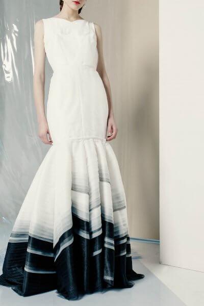 Платье макси с контрастным декором MF-FW1920-21_outlet, фото 1 - в интеренет магазине KAPSULA