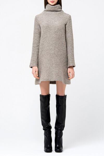Платье-туника свободного кроя MIN_fw1718-04-outlet, фото 1 - в интеренет магазине KAPSULA