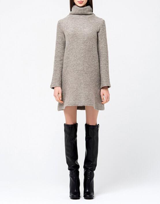 Платье-туника свободного кроя MIN_fw1718-04-outlet, фото 3 - в интеренет магазине KAPSULA