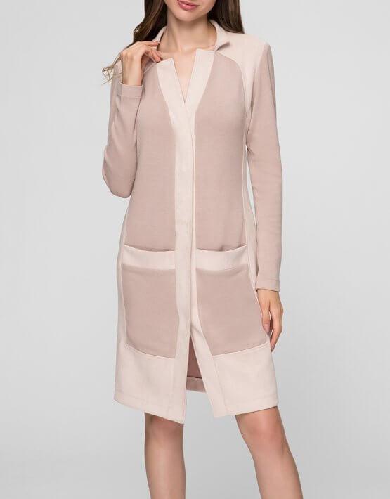 Трикотажное платье-кардиган MIN_fw1718-12-outlet, фото 3 - в интеренет магазине KAPSULA