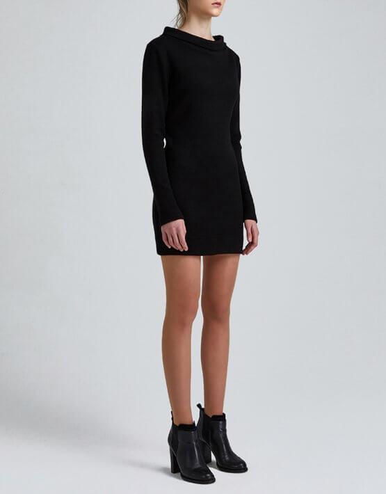Платье мини из трикотажа MIN_fw1819-12-outlet, фото 3 - в интеренет магазине KAPSULA
