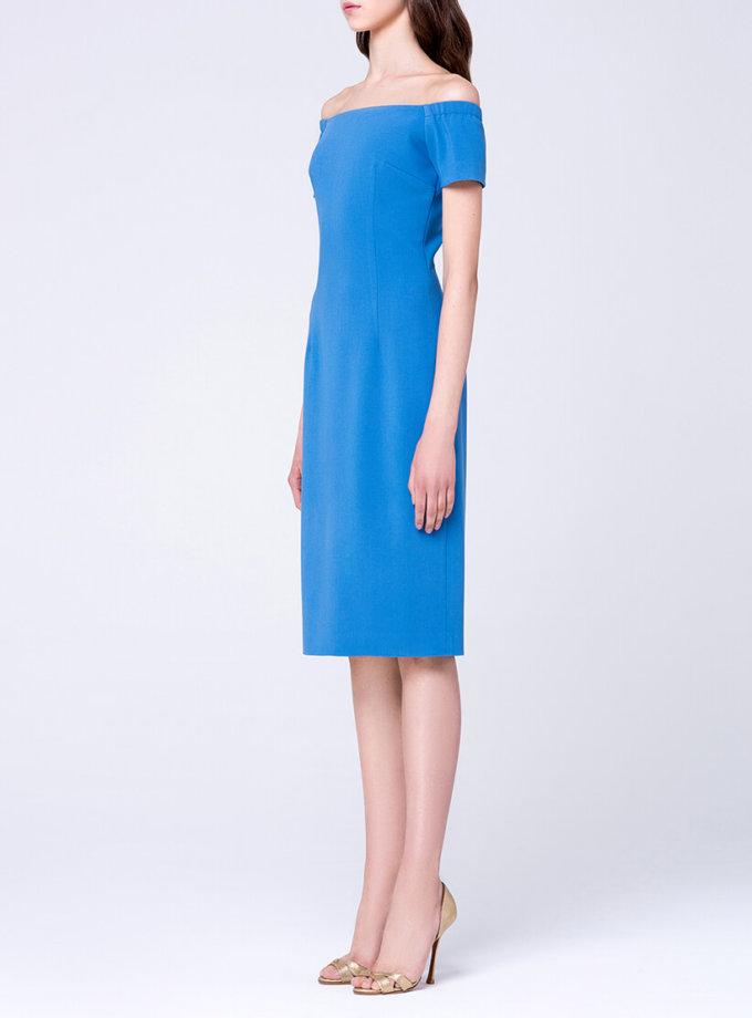 Платье-футляр с открытыми плечами MIN_ss1702-outlet, фото 1 - в интернет магазине KAPSULA