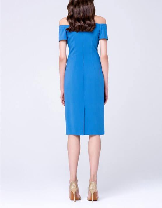 Платье-футляр с открытыми плечами MIN_ss1702-outlet, фото 3 - в интеренет магазине KAPSULA
