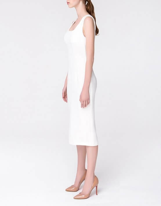 Платье-футляр на бретелях MIN_ss1803-outlet, фото 3 - в интеренет магазине KAPSULA