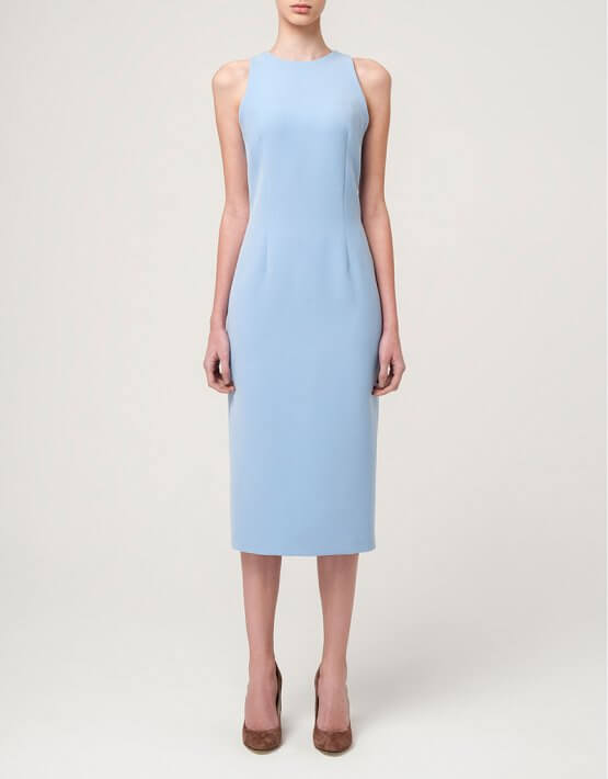 Платье-футляр миди MIN_ss_1601-outlet, фото 3 - в интеренет магазине KAPSULA