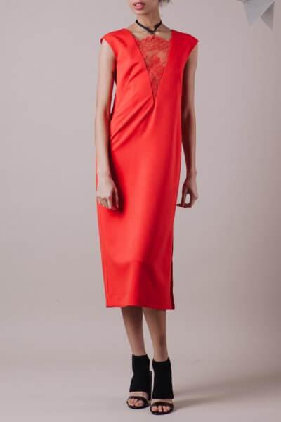 Платье с кружевной вставкой MMT_013_red_dress_with_lace, фото 8 - в интеренет магазине KAPSULA