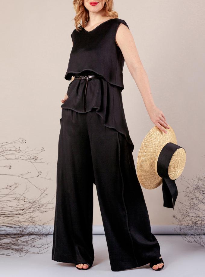 Костюм с брюками палаццо MMT_075_076_black, фото 1 - в интернет магазине KAPSULA