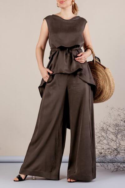 Костюм с брюками палаццо MMT_075_076_haki, фото 1 - в интеренет магазине KAPSULA