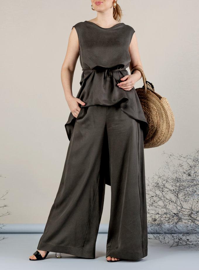 Костюм с брюками палаццо MMT_075_076_haki, фото 1 - в интернет магазине KAPSULA