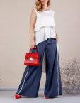 Костюм с брюками палаццо MMT_075_076_haki, фото 3 - в интеренет магазине KAPSULA