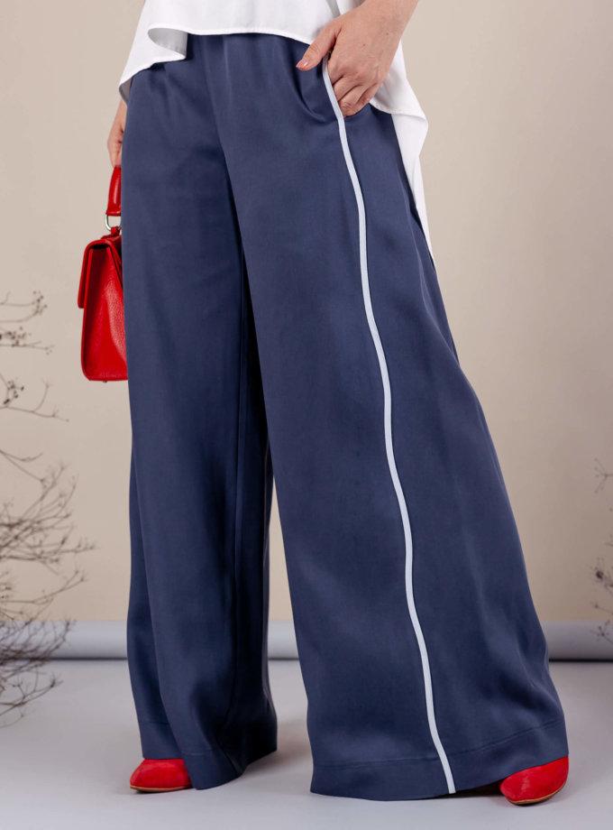 Брюки палаццо MMT_075a_white_076_blue_pants, фото 1 - в интернет магазине KAPSULA
