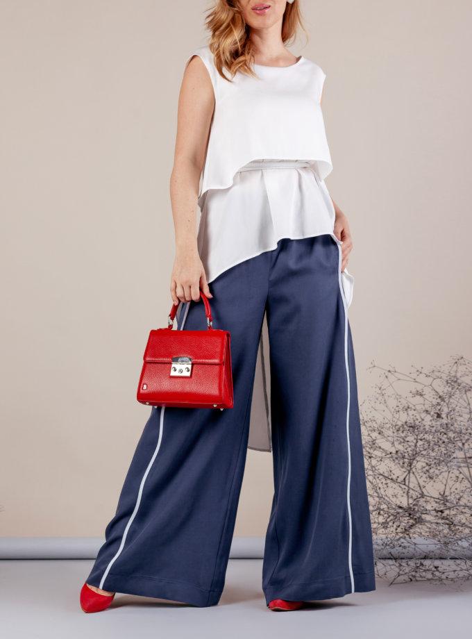 Костюм с брюками палаццо MMT_075a_white_076_blue, фото 1 - в интернет магазине KAPSULA