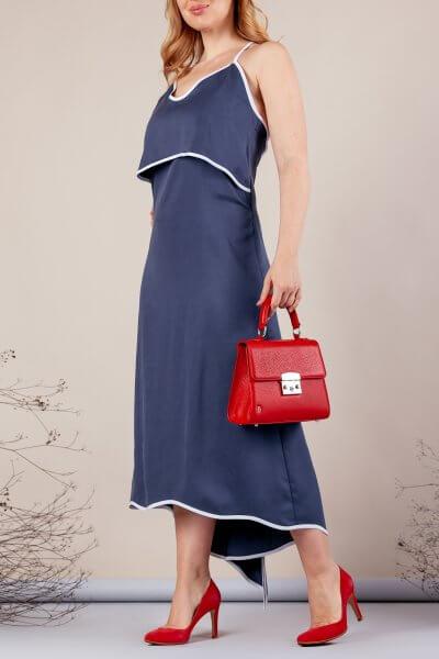 Платье миди на тонких бретелях MMT_077_blue, фото 4 - в интеренет магазине KAPSULA