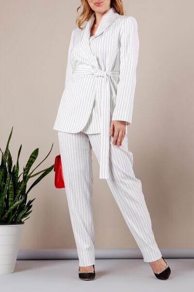 Костюм с брюками дудочками MMT_096_047a_white_strip, фото 1 - в интеренет магазине KAPSULA