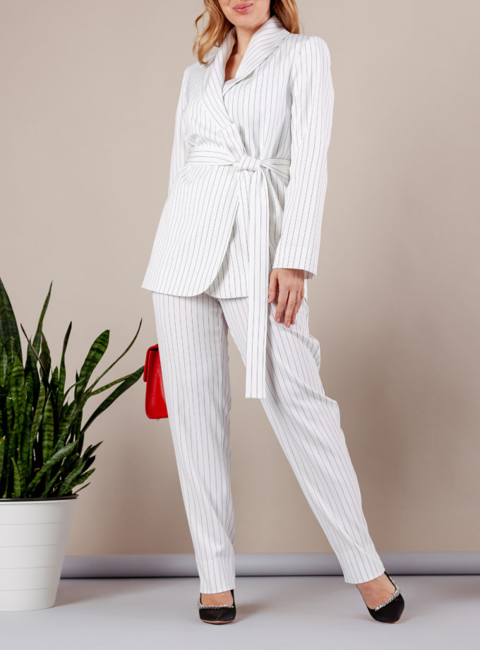 Костюм с брюками дудочками MMT_096_047a_white_strip, фото 1 - в интернет магазине KAPSULA