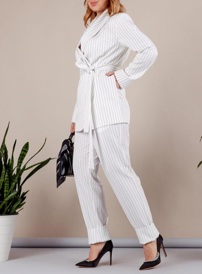 Костюм с брюками бананами MMT_096a_014c_white_strip, фото 1 - в интернет магазине KAPSULA