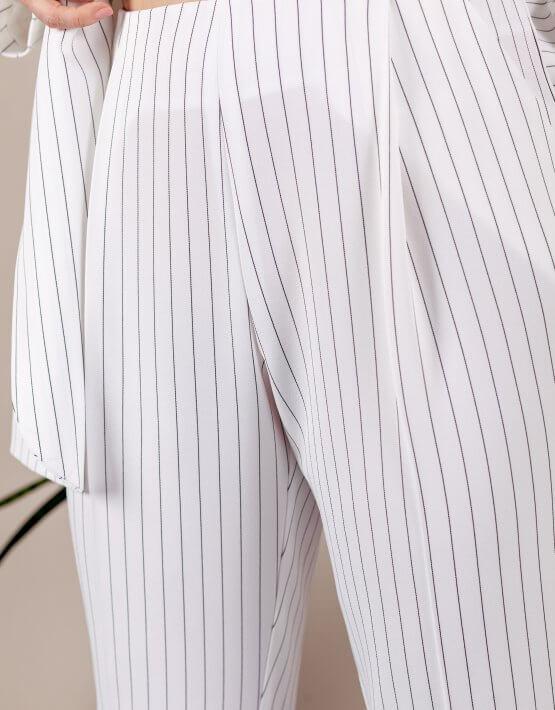 Костюм с брюками бананами MMT_096a_014c_white_strip, фото 6 - в интеренет магазине KAPSULA