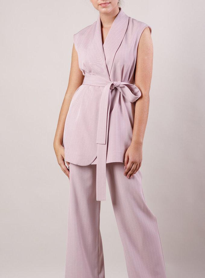 Костюм с жилетом MMT_suit-with-vest-pink-stripes, фото 1 - в интеренет магазине KAPSULA