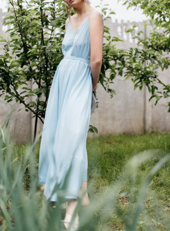 Легкий сарафан с поясом MNTK_MTDRS208, фото 1 - в интернет магазине KAPSULA