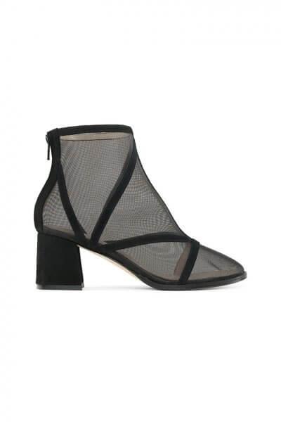 Замшевые ботинки с сеткой Mesh Black MRSL_845601, фото 1 - в интеренет магазине KAPSULA