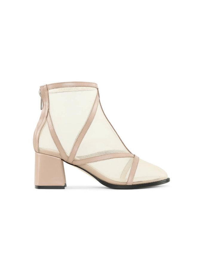 Кожаные ботинки с сеткой Mesh Beige MRSL_845661, фото 1 - в интеренет магазине KAPSULA