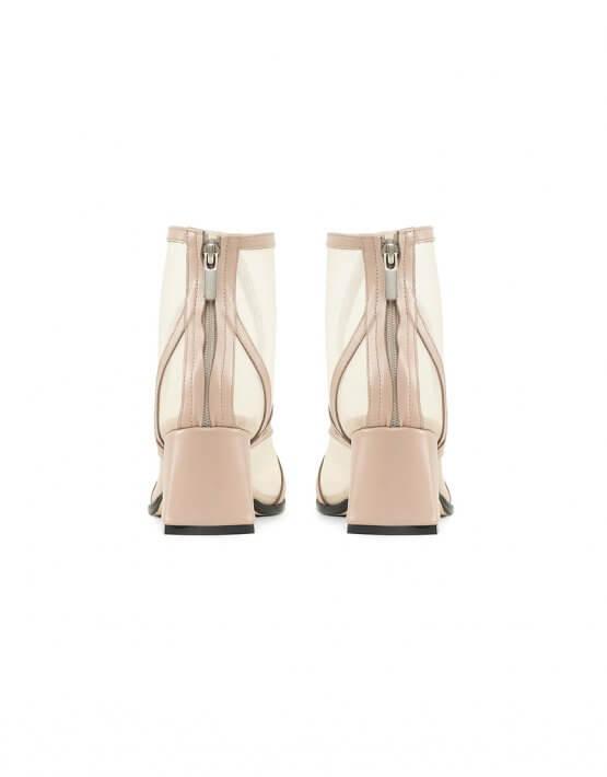 Кожаные ботинки с сеткой Mesh Beige MRSL_845661, фото 4 - в интеренет магазине KAPSULA