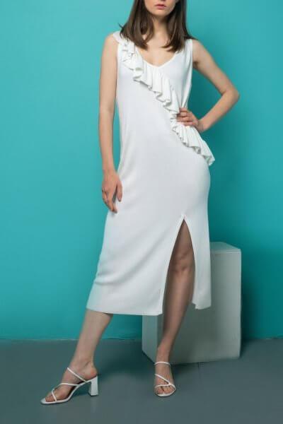 Вязаное платье с воланом NBL_09-PTVV, фото 1 - в интеренет магазине KAPSULA
