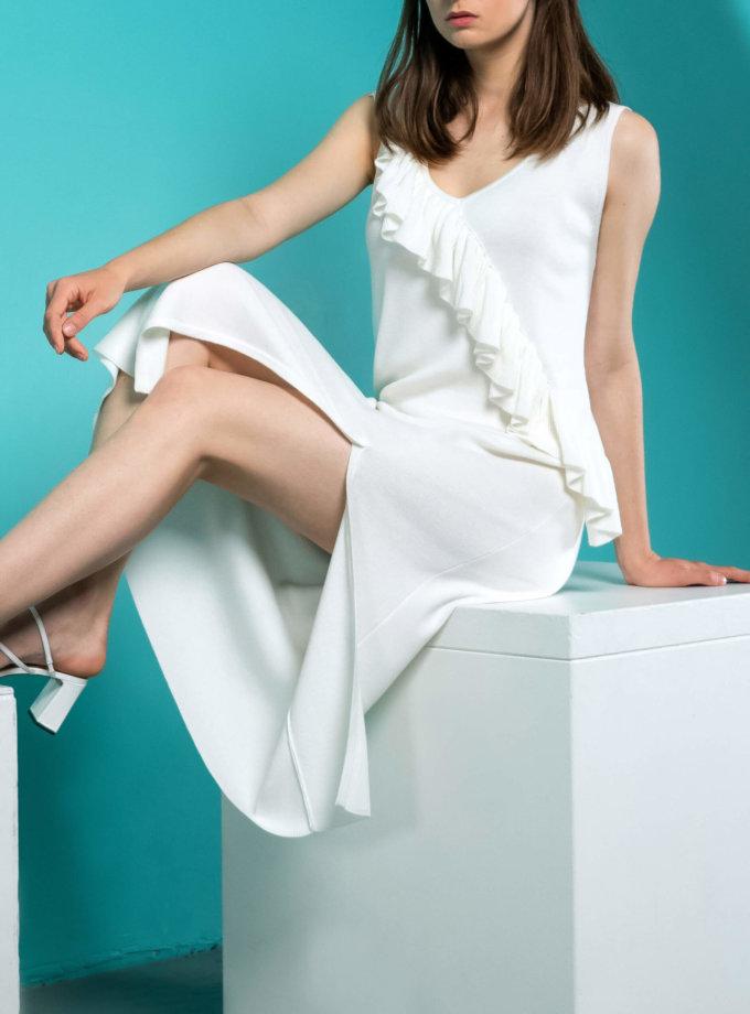 Вязаное платье с воланом NBL_09-PTVV, фото 1 - в интернет магазине KAPSULA