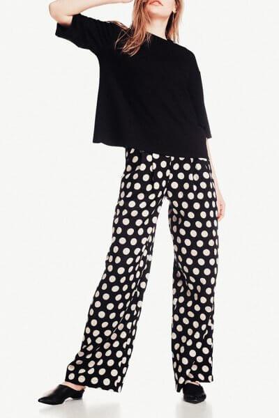 Широкие брюки из хлопка NM_244, фото 1 - в интеренет магазине KAPSULA