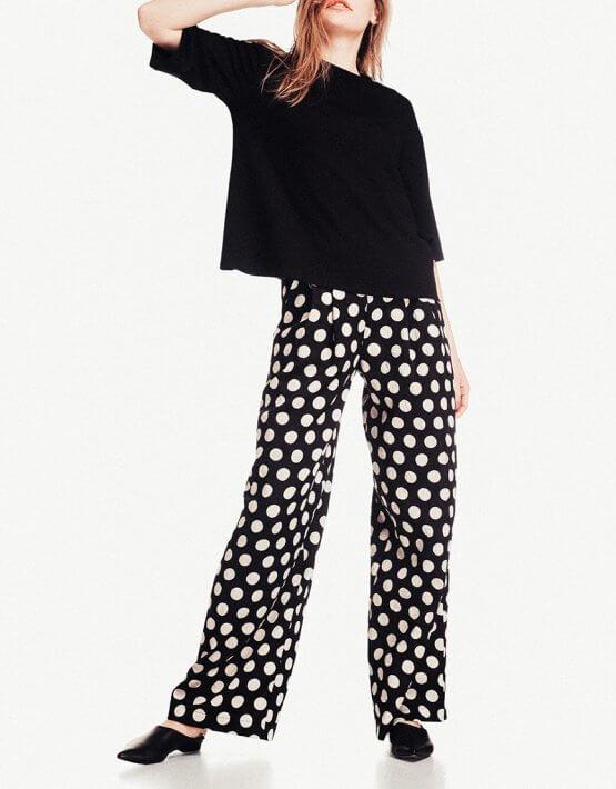Широкие брюки из хлопка NM_244, фото 2 - в интеренет магазине KAPSULA