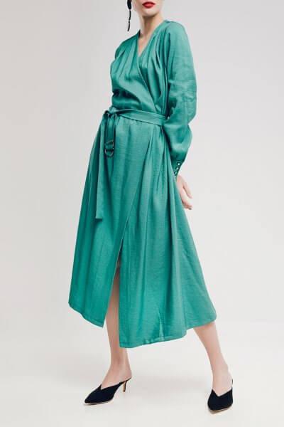 Платье на запах из хлопка NM_299, фото 1 - в интеренет магазине KAPSULA