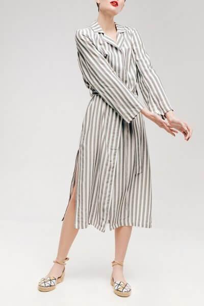 Платье с разрезами и поясом NM_333, фото 1 - в интеренет магазине KAPSULA