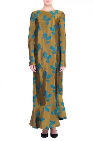 Шелковое платье макси SAYYA_FW692-1_outlet, фото 1 - в интеренет магазине KAPSULA