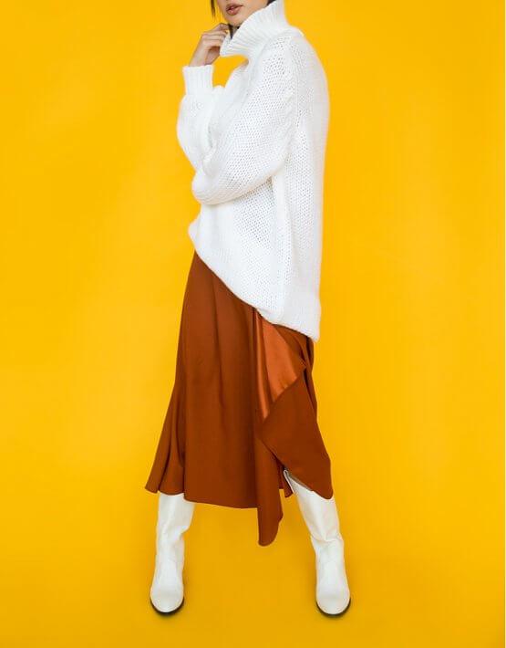 Юбка с воланом SAYYA_FW792-2_outlet, фото 3 - в интеренет магазине KAPSULA