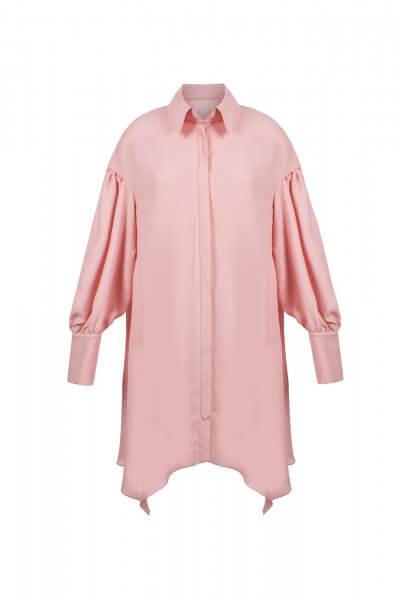 Ассиметричное платье с поясом SKR_10004_outlet, фото 3 - в интеренет магазине KAPSULA