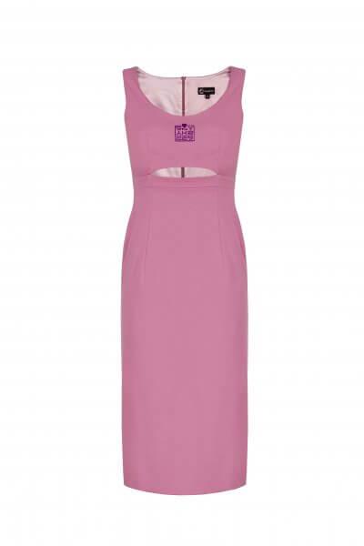 Платье миди с разрезом SKR_10005_outlet, фото 1 - в интеренет магазине KAPSULA
